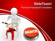 Search Of Gifts Internet PowerPoint Templates And PowerPoint Backgroun