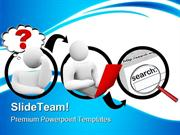 Searching For Answer Internet PowerPoint Templates And PowerPoint Back