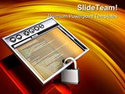 Secure Internet Browser Computer PowerPoint Templates And PowerPoint B