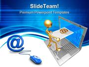 Sending Receiving E Mail Internet PowerPoint Templates And PowerPoint
