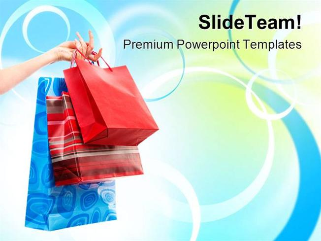 shopping bags sales powerpoint templates and powerpoint background, Modern powerpoint
