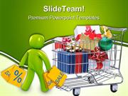 Shopping Cart With Presents Sales PowerPoint Templates And PowerPoint