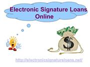 Electronic Signature Loans