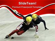 Short Track Sports PowerPoint Templates And PowerPoint Backgrounds ppt