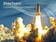 Shuttle Launch Technology PowerPoint Templates And PowerPoint Backgrou