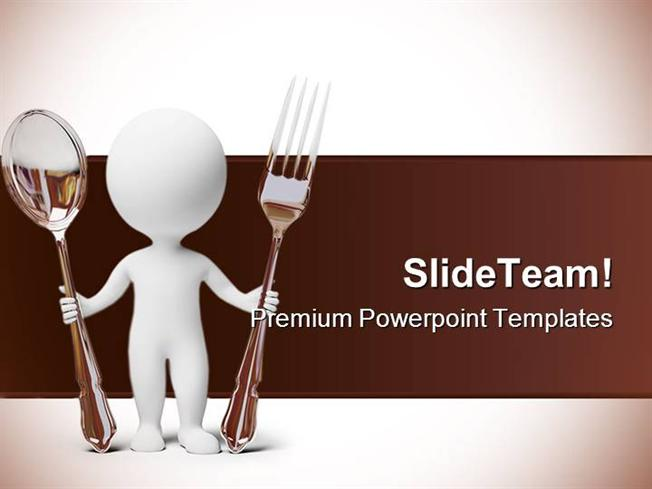 Small people fork and spoon food powerpoint backgrounds and templa presentation description toneelgroepblik Images