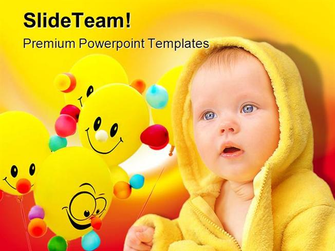 Smiley Child Baby Powerpoint Templates And Powerpoint Backgrounds