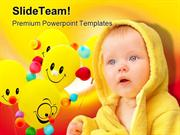 Smiley Child Baby PowerPoint Templates And PowerPoint Backgrounds pgra