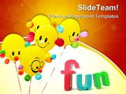 Smiling Colorful Balloon Entertainment PowerPoint Templates And PowerP