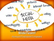 Social Media Chart Internet PowerPoint Templates And PowerPoint Backgr