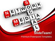 Social Media Network Communication PowerPoint Templates And PowerPoint