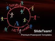 Social Networking Communication PowerPoint Templates And PowerPoint Ba