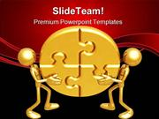 Solving The Puzzle Business PowerPoint Templates And PowerPoint Backgr