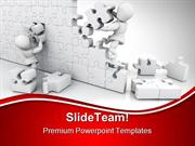 Solving Jigsaw Puzzle Business PowerPoint Templates And PowerPoint Bac