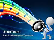 Sound Of Rainbow Music PowerPoint Templates And PowerPoint Backgrounds