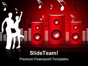 Soundburst Speaker Music PowerPoint Templates And PowerPoint Backgroun