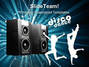 Speakers Music PowerPoint Templates And PowerPoint Backgrounds 0911