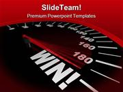 Speedometer Shows Win Metaphor PowerPoint Templates And PowerPoint Bac