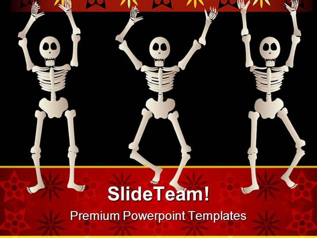 spooky skeletons science powerpoint themes and powerpoint slides p
