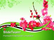 Spring Cherry Flowers Nature PowerPoint Themes And PowerPoint Slides p