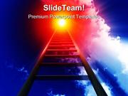 Stairway To Heaven Leadership PowerPoint Templates And PowerPoint Back
