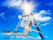 Stairway To The Sky Success PowerPoint Templates And PowerPoint Backgr