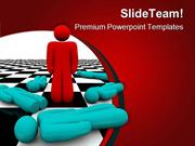 Standing Out Leadership PowerPoint Templates And PowerPoint Background