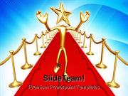 Star Of The Red Carpet Success PowerPoint Templates And PowerPoint Bac