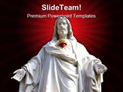 Statue Of Jesus Religion PowerPoint Templates And PowerPoint Backgroun