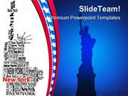 Statue Of Liberty Americana PowerPoint Templates And PowerPoint Backgr