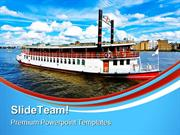 Steam Boat Beach PowerPoint Templates And PowerPoint Backgrounds ppt l