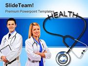 Stethoscope With Health Medical PowerPoint Templates And PowerPoint Ba
