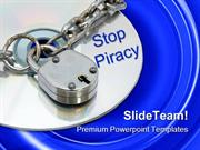 Stop Piracy Security PowerPoint Templates And PowerPoint Backgrounds p
