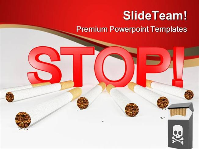 Stop Smoking Health Powerpoint Templates And Powerpoint Background