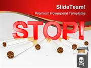 Stop Smoking Health PowerPoint Templates And PowerPoint Backgrounds pp