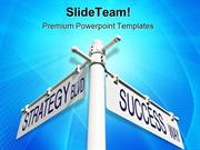 Strategy Success Metaphor PowerPoint Templates And PowerPoint Backgrou
