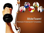 Strength Health PowerPoint Templates And PowerPoint Backgrounds ppt th