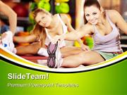 Stretching Exercise Health PowerPoint Templates And PowerPoint Backgro