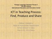 ICT in teaching process by A.Alekperov