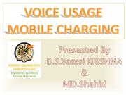 voice usage mobile charging