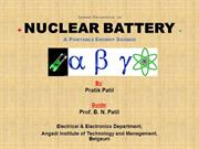 Seminar Presentation on Nuclear Batteries