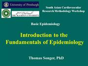 introduction to fundamentals of epidemiology
