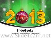 ABSTRACT BACKGROUND FOR NEW YEAR 2013 POWERPOINT TEMPLATE