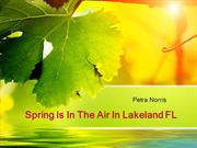 Spring Is In The Air In Lakeland FL