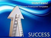 Success Ladder Business PowerPoint Templates And PowerPoint Background