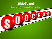 Success Spheres Shapes PowerPoint Templates And PowerPoint Backgrounds