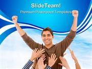 Successfull Man Business PowerPoint Themes And PowerPoint Slides ppt d