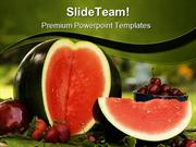 Summer Fruit WaterMelon Food PowerPoint Templates And PowerPoint Backg