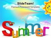 Summer Holidays PowerPoint Templates And PowerPoint Backgrounds ppt la