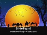 Sunset Desert Nature PowerPoint Backgrounds And Templates ppt layouts